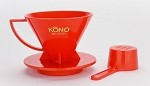 KONO Meimon 1-2 Cup Coffee Dripper - RED