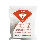 CAFEC Abaca Cone Coffee Filters- 100 pk 1-4 Cup Large Size