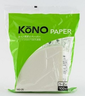 KONO Coffee Filters (100pc) for the 1-2 cup size Dripper